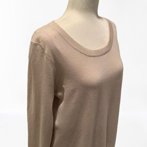 Chelsea & Theodore Sweaters - CHELSEA&THEODORE | NWT PALE OPEN BACK SWEATER | L